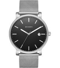 skagen men's hagen stainless steel mesh bracelet watch 40mm