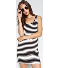 rory tank dress - l black stripe