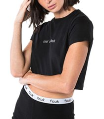 fcuk cool as cropped t-shirt