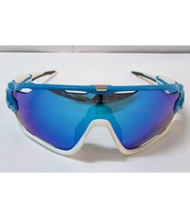 oakley jawbreaker sunglasses oo9290-02 sky blue sapphire iridium aerodynamic new