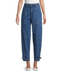 neon blonde women's jolie high-rise tapered jeans - blue melody - size 26 (2-4)