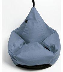 puf tipi spa niebieski melanż o fakturze lnu.