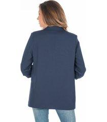 blazer oversize azul navy aplique en manga