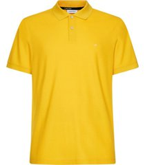 polera polo jacob refined pique chest logo amarillo calvin klein