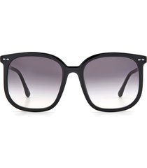 women's isabel marant 56mm cat eye sunglasses - black/ grey shaded