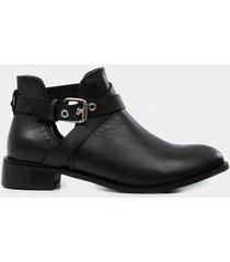 zapatos tipo botin para mujer en cuero gitano