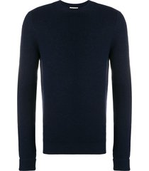 al duca d'aosta 1902 rib knit fitted sweater - blue