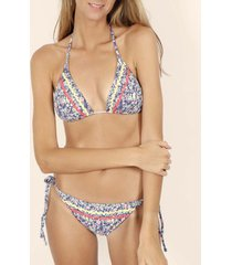 bikini admas 2-delige bikini set driehoek liberty veelkleurige adma's