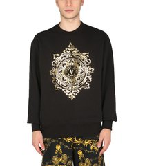 versace jeans couture sweatshirt with v embleme logo