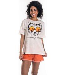 t-shirt nogah cat areia - kanui