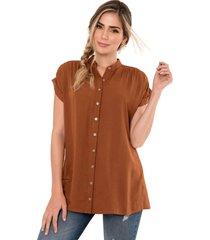 camisa milano café ragged pf11112196