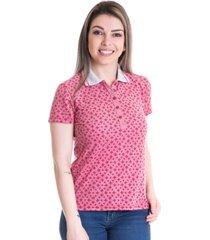 camisa polo konciny piquet estampado 96602 vermelho