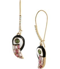 betsey johnson toucan dangle earrings