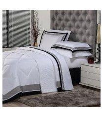jogo de cama king plumasul soft comfort 4 peças branco