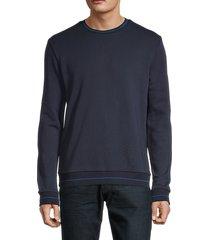 hugo hugo boss men's ribbed stretch-cotton sweatshirt - navy - size s