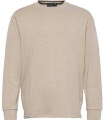 relaxed linen-blend longsleeve tee sweat-shirt tröja beige scotch & soda