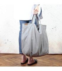lazy bag torba jasnoszara na zamek / vegan / eco