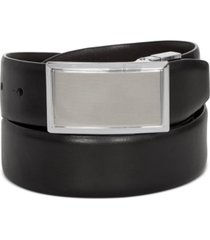 closeout! perry ellis men's shiny leather reversible plaque belt