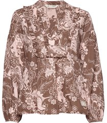 puff-puff blouse blus långärmad multi/mönstrad odd molly