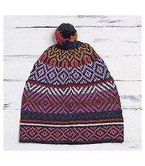 100% alpaca hat, 'andean pride' (peru)