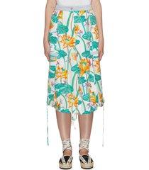 'paula's ibiza' waterlily print cargo skirt