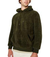cotton on men's drop shoulder teddy fleece hoodie