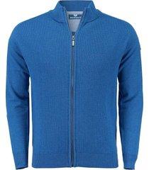 vest cardigan blauw
