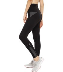 legging puma evostripe high rise 7/8 negro - calce ajustado