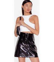 the vinyl destination utility mini skirt