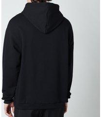 drôle de monsieur men's drole embroidered hoodie - black - xl