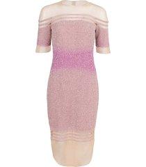 off-shoulder illusion sequin dress