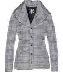 giacca trapuntata in fantasia principe di galles (nero) - bpc selection
