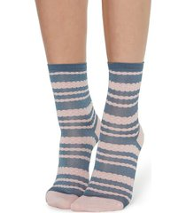 calzedonia fancy socks with embossed detail woman grey size tu