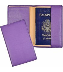 men's royce new york classic rfid blocking passport case