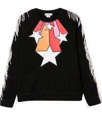 stella mccartney kids black sweatshirt