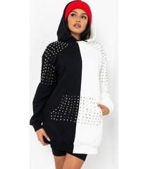 akira i put on for my city studded long sleeve sweater dress