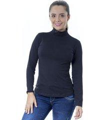 blusa para dama cuello tortuga manga larga juno