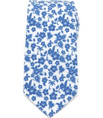 men's cufflinks, inc. tropical cotton tie, size regular - blue