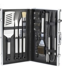 picnic at ascot 20 piece stainless steel barbecue grill tool set - aluminum case