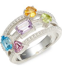 multi row sterling silver ring