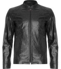 jaqueta masculina couro - preto