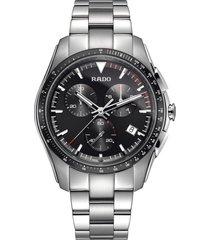 rado hyperchrome chronograph bracelet watch, 45mm in silver/black/silver at nordstrom