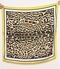 pañuelo amarillo nuevas historias animal print