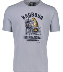 barbour t-shirt grijs opdruk