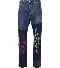 scotty patchwork denim jeans blue