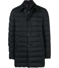 herno double layer duffle coat - black