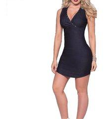 vestido corto azul mp