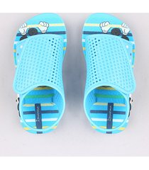 sandália infantil ipanema mickey estampada azul