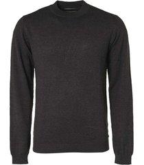no excess pullover high crewneck 2 color dark grey