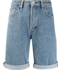 rag & bone mid rise rosa shorts - blue
